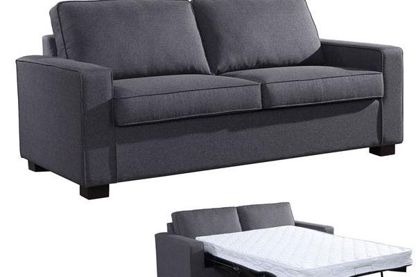 e0133286e9a0 CAMPEL Καναπές Κρεβάτι Ύφασμα Γκρι